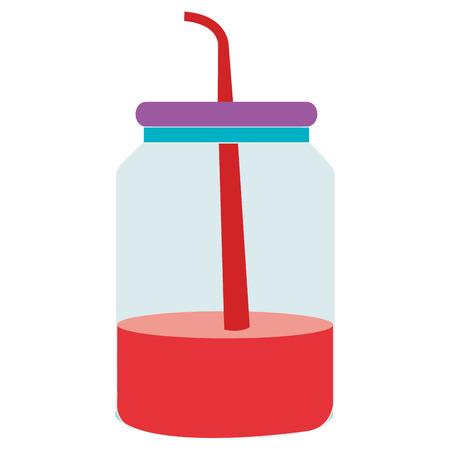 mason jar with beverage vector illustration design Иллюстрация
