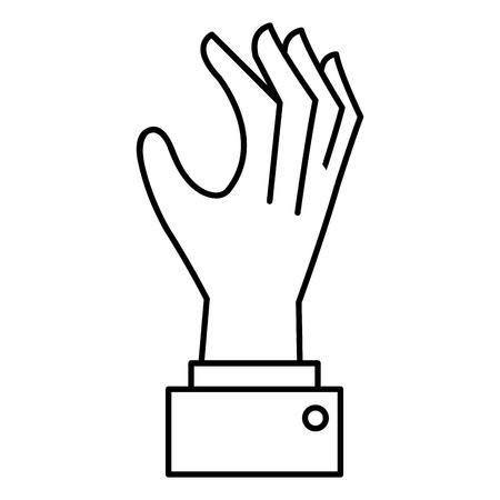 手を引く人間のアイコン ベクトル イラスト デザイン