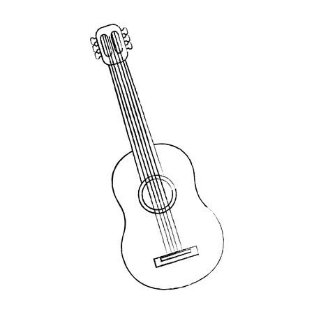 mexican guitar instrument musical carnival design vector illustration Иллюстрация