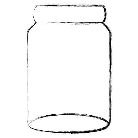glass jar isolated icon vector illustration design