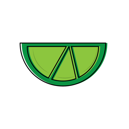 lime or lemon wedge icon image vector illustration design