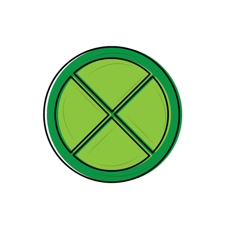 lime or lemon wedge icon image vector illustration design