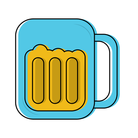 beer in glass icon image vector illustration design