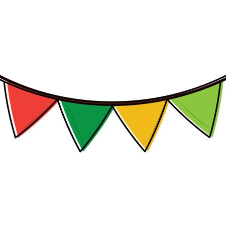 pennant banner icon image vector illustration design