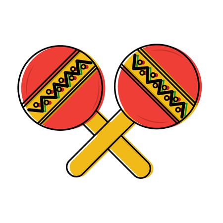 maracas muziekinstrument pictogram afbeelding vector illustratie ontwerp