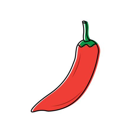 chili pepper vegetable icon image vector illustration design