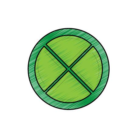 Progettazione dell'illustrazione di vettore di immagine dell'icona del cuneo di limone o della calce Archivio Fotografico - 90343579