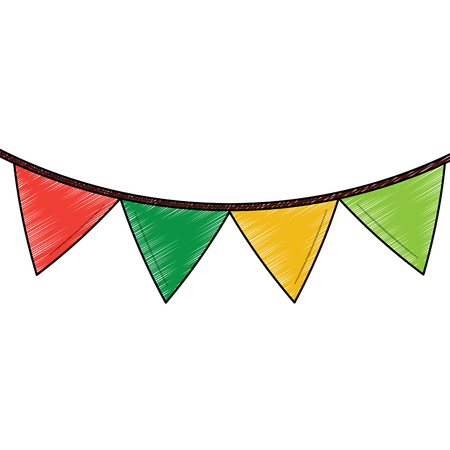 pennant banner icon image vector illustration design