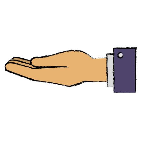 hand human receiving icon vector illustration design 向量圖像