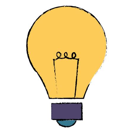 電球ライト分離アイコン ベクトル イラスト デザイン  イラスト・ベクター素材
