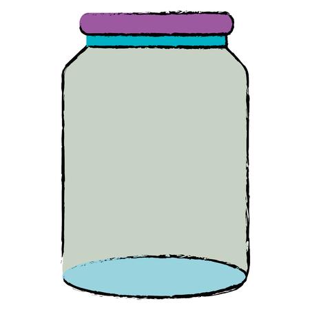 glass jar isolated icon vector illustration design Banco de Imagens - 90343755