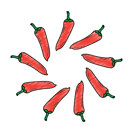 hot mexican chili pepper fast food round