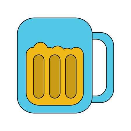 glass beer drink liquor beverage icon vector illustration