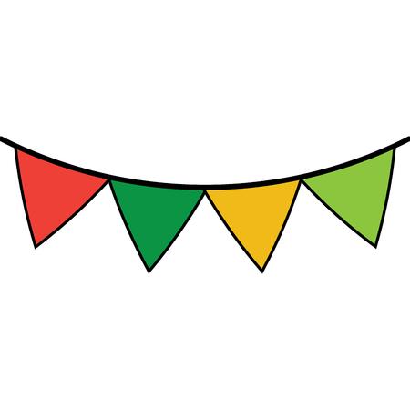 페넌트 깃발 장식 축제 장식 벡터 일러스트 레이션