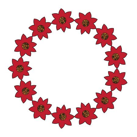 Illustrazione decorativa di vettore dell'ornamento naturale del fiore della corona Archivio Fotografico - 90340936