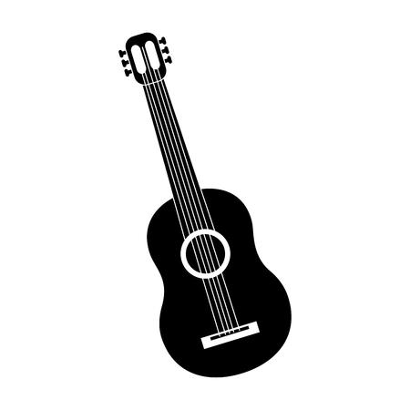 Mexikanische Gitarre Instrument musikalische Karneval Design Vektor-Illustration Standard-Bild - 90343866
