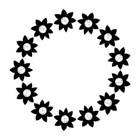 Décoratif couronne fleur ornement naturel illustration vectorielle Banque d'images - 90340979