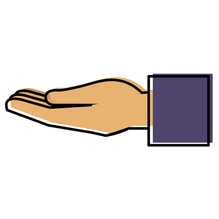 Main humaine recevoir icône illustration vectorielle conception Banque d'images - 90340998