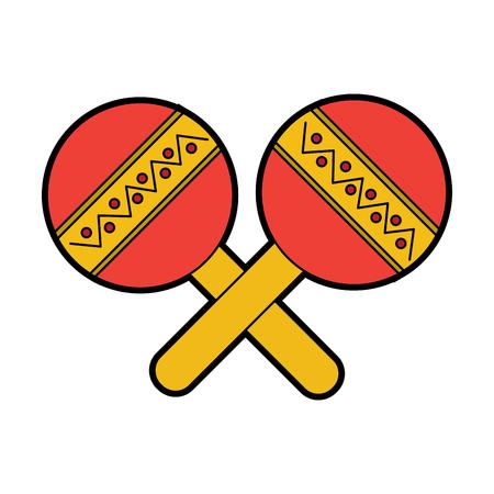 maracas musical instrument icon image vector illustration design
