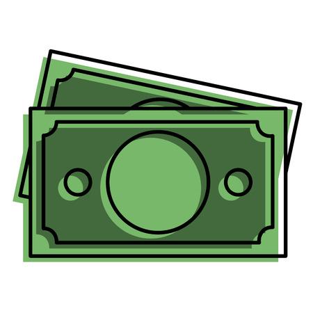 Bill dollar geld icoon vector illustratie ontwerp