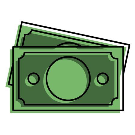 bill dollar money icon vector illustration design