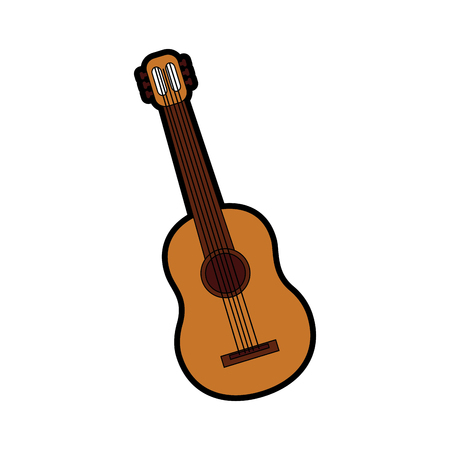 guitar acoustic icon image vector illustration design