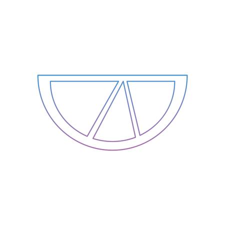 lime or lemon wedge icon image vector illustration design  blue purple ombre line Çizim