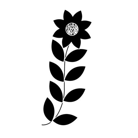 Fleurs feuilles branche feuillage nature icône illustration vectorielle Banque d'images - 90356956