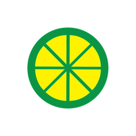 round sliced lime juicy citrus fruit tropical vector illustration Stok Fotoğraf - 90341577