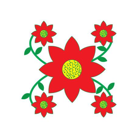 bloemen bladeren regeling decoratie feestelijk ontwerp vectorillustratie