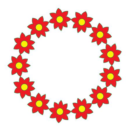 Illustrazione decorativa di vettore dell'ornamento naturale del fiore della corona Archivio Fotografico - 90343146