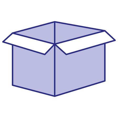 carton box isolated icon vector illustration design