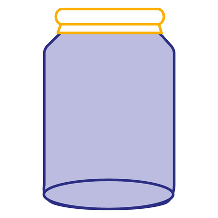 glass jar isolated icon vector illustration design Banco de Imagens - 90438743