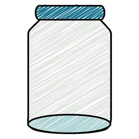 glass jar isolated icon vector illustration design Banco de Imagens - 90438841