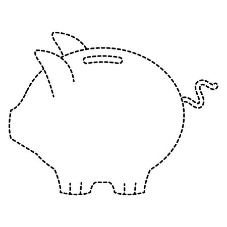 ピギー貯蓄孤立したアイコンベクトルイラストデザイン  イラスト・ベクター素材
