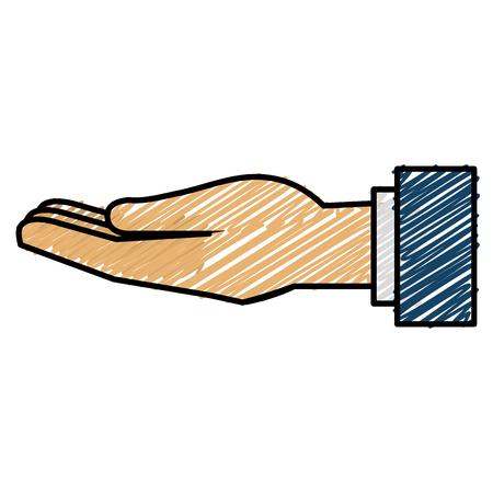 Main humaine recevoir icône illustration vectorielle conception Banque d'images - 90438888