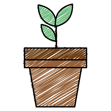 Plante dans pot plat icône vecteur illustration design Banque d'images - 90412121
