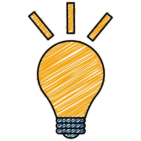 電球ライトスケッチフラットアイコンベクトルイラストデザイン  イラスト・ベクター素材