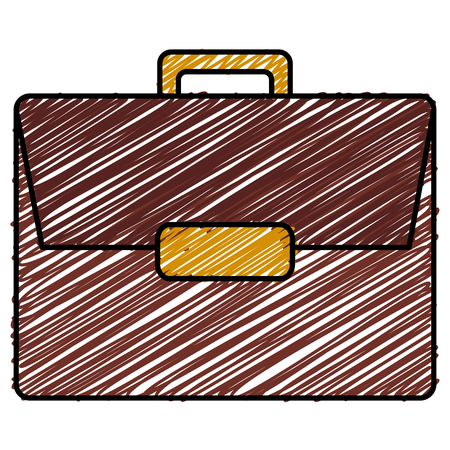 Portfolio briefcase sketch flat icon vector illustration design