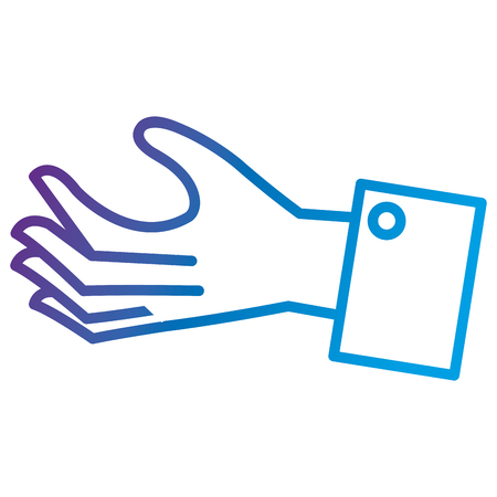 Hand human receiving flat icon vector illustration design Reklamní fotografie - 90412675