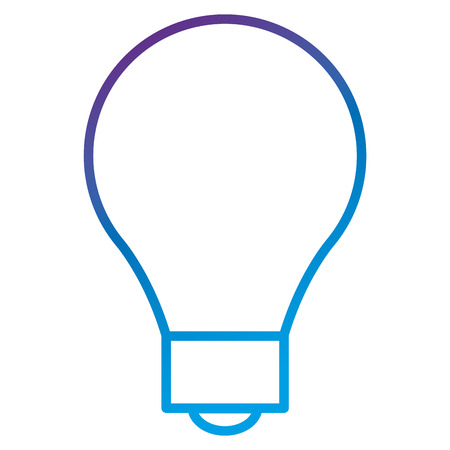 Bulb light flat icon vector illustration design