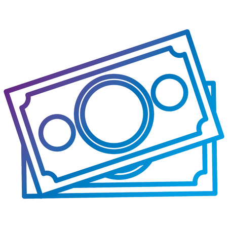 Bill dollar money flat icon vector illustration design Illustration