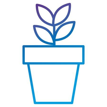 Plant in pot flat icon vector illustration design Illusztráció