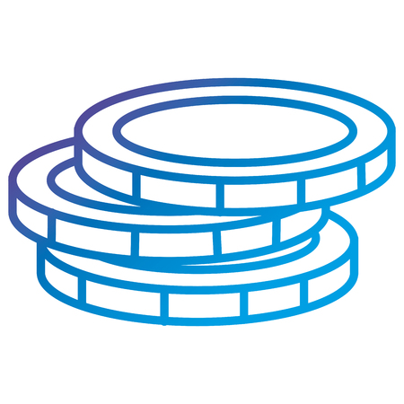 Coin money flat icon vector illustration design