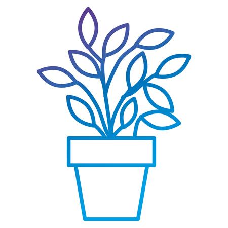 Plant in pot flat icon vector illustration design Ilustração