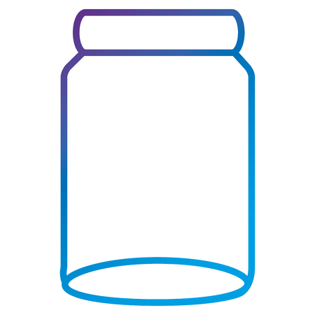 Glass jar flat icon vector illustration design