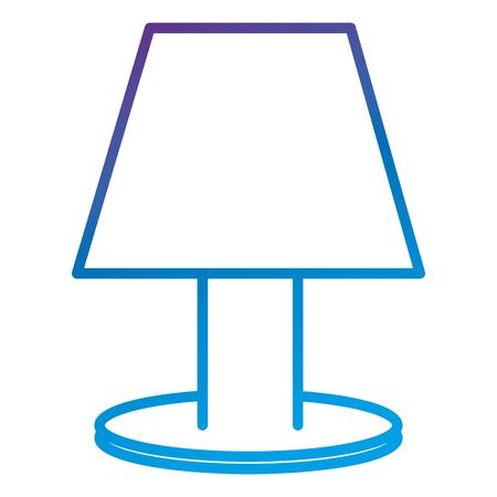 ベッドルームランプフラットアイコンベクトルイラストデザイン  イラスト・ベクター素材