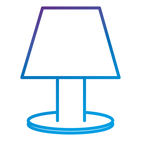 Bedroom lamp flat icon vector illustration design Reklamní fotografie - 90413090