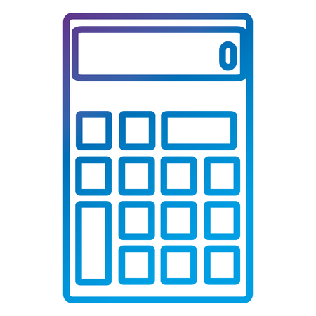 Calculator device flat icon vector illustration design