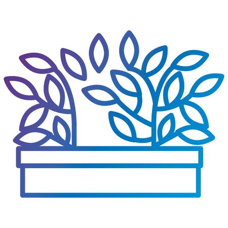 Plant in pot icon flat vector illustration design Illusztráció